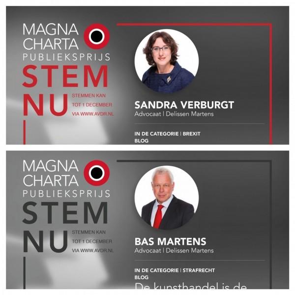Nominaties Magna Charta Publieksprijs 2019